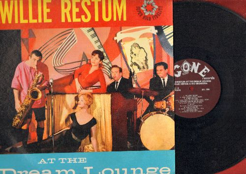 Restum, Willie - At The Dream Lounge: Mack Thye Knife, Sixty Minute Man, Bill Bailey, Almost Like Being In Love, Night Train (Vinyl MONO LP record, RARE Gone Label album!) - EX8/EX8 - LP Records
