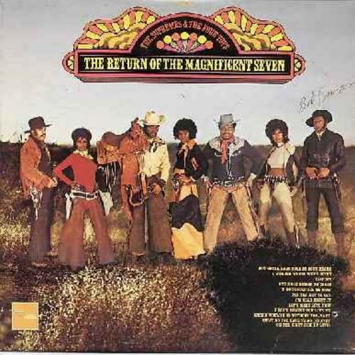 Supremes & The Four Tops - The Return Of The Magnificent Seven: Call Me, If You Could See Me Now, I can't Believe You Love Me, You Gotta Have Love In Your Heart (Vinyl STEREO LP record, Canadian Pressing) - NM9/EX8 - LP Records