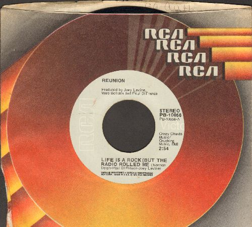 Reunion - Life Is A Rock (But The Radio Rolled Me)/Are You ready To Believe (with RCA company sleeve) - EX8/ - 45 rpm Records