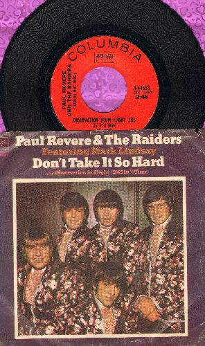 Revere, Paul & The Raiders - Observation From Flight 285 (In 3/4 Time)/Don't Take It So hard (with picture sleeve) - EX8/VG6 - 45 rpm Records