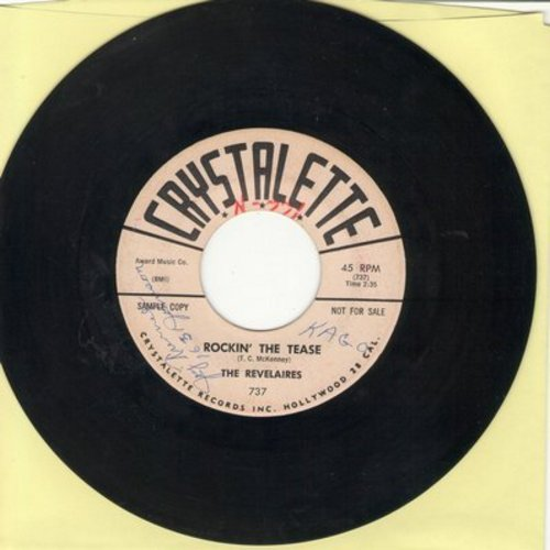 Revelaires - Rockin' The Tease/New Kind Of Gold (minor wol) - EX8/ - 45 rpm Records