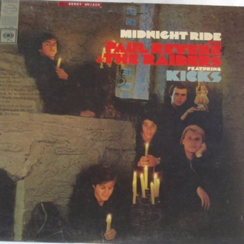 Revere, Paul & The Raiders - Kicks: I'm Not Your Stepping Stone, Melody For An Unknown Girl, Get It On, Little Girl In The 4th Row (Vinyl STEREO LP record) - VG7/EX8 - LP Records
