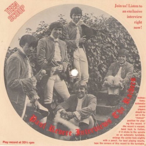 Revere, Paul & The Raiders - Teen Scoop BONUS - Exclusive Interview on one-sided cardboard 33rpm record (RARE!) - EX8/ - LP Records