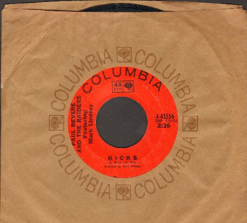 Revere, Paul & The Raiders - Kicks/Shake It Up (with Columbia company sleeve) - NM9/ - 45 rpm Records