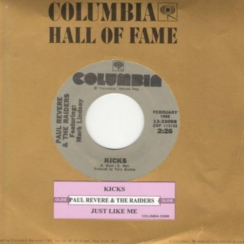 Revere, Paul & The Raiders - Kicks/Shake It Up (with Columbia company sleeve) - VG7/ - 45 rpm Records