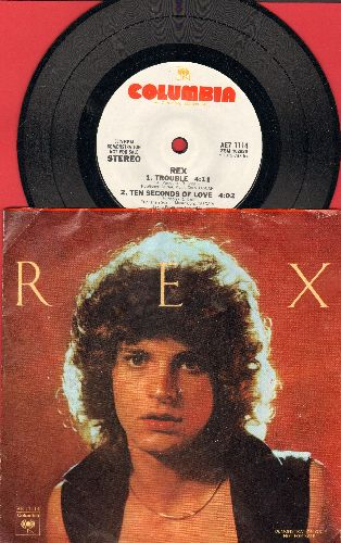Smith, Rex - Trouble/Ten Seconds Of Love/Feeling Better/Call Her easy (7 inch 33rpm record, small spindle hole DJ advance pressing with picture sleeve) - EX8/EX8 - 45 rpm Records
