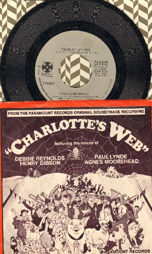 Reynolds, Debbie - Charlotte's Web/Mother Earth And Father Time (with picture sleeve) - EX8/EX8 - 45 rpm Records