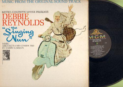 Reynolds, Debbie - The Singing Nun - Original Motion Picture Soundtrack featuring the hit Dominique (Vinyl MONO LP record, gate-fold cover) - EX8/VG6 - LP Records