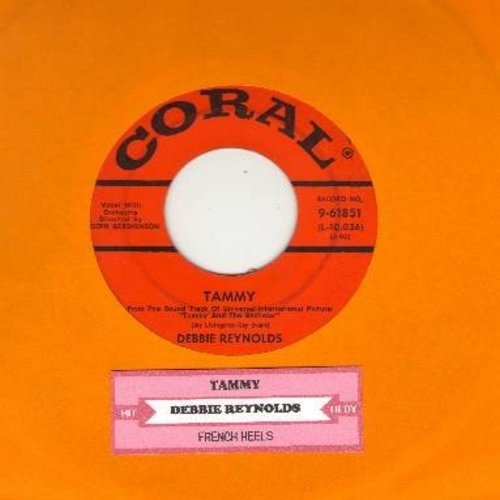 Reynolds, Debbie - Tammy/French Heels (with juke box label) - VG7/ - 45 rpm Records