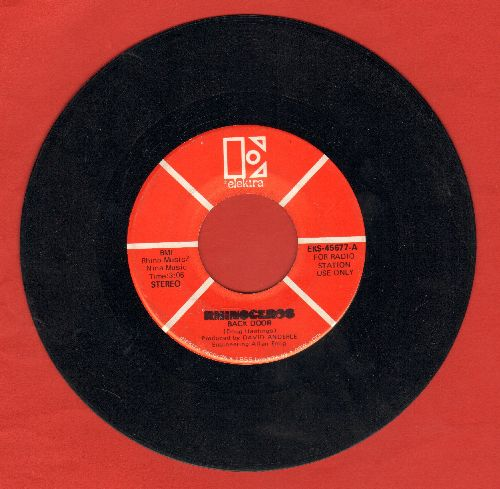 Rhinoceros - Back Door (double-A-sided DJ advance pressing) - VG7/ - 45 rpm Records