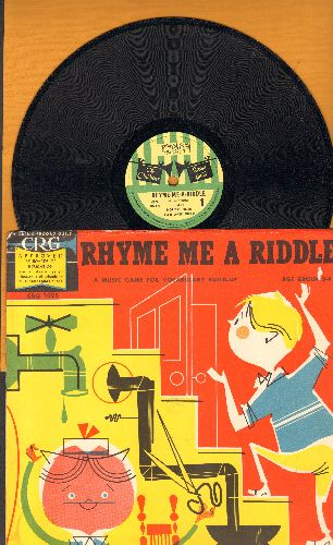 Rose, Norman - Rhyme Me A Riddle - A Music Game For Vocabulary Build-Up, Age Group 2-4 (10 inch 78 rpm record with picture cover) - NM9/EX8 - 78 rpm