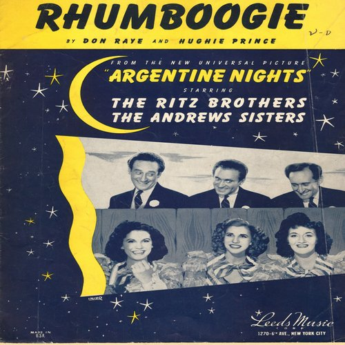 Andrews Sisters - Rhumboogie - SHEET MUSIC for the song performed by The Andrews Sisters in film