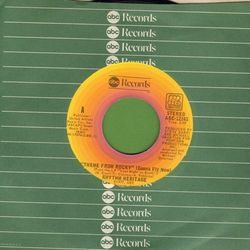 Rhythm Heritage - Theme From Rocky (Gonna Fly Now)/Last Bight On Earth (with ABC company sleeve) - EX8/ - 45 rpm Records
