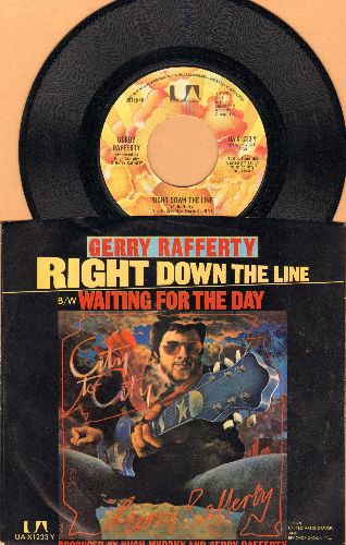 Rafferty, Gerry - Right Down The Line/Waiting For The Day (with picture sleeve) - EX8/NM9 - 45 rpm Records