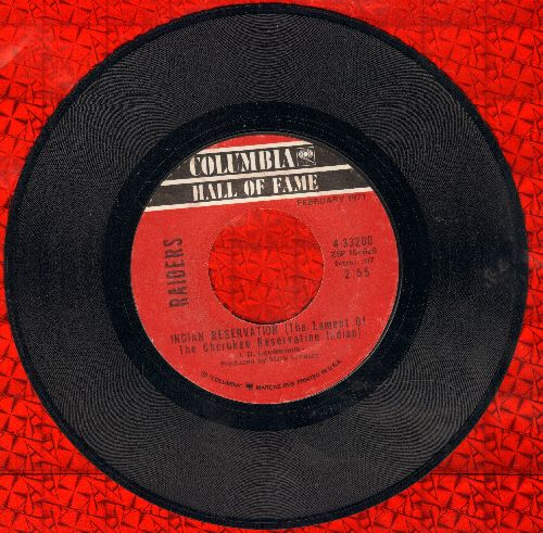Raiders - Indian Reservation (The Lament Of The Cherokee Reservation Indian)/Birds Of A Feather (double-hit re-issue) - NM9/ - 45 rpm Records
