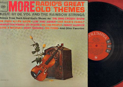 De Vol & The Rainbow Strings - More Radio's Great Old Themes: Bing Crosby Show, Fred Allen Show, I Love A Mystery, Big Town, Baby Snooks, More! (Vinyl MONO LP record) - M10/NM9 - LP Records