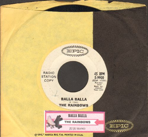 Rainbows - Balla Balla/Ju Ju Hand (DJ advance pressing with Epic company sleeve and juke box label) - EX8/ - 45 rpm Records