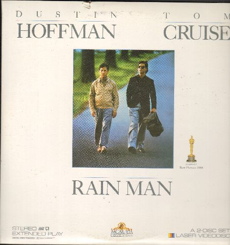 Rain Man - Rain Man - The Academy Award Winning film starring Dustin Hofman and Tom Cruise on 2 LASERDISCS in gate-fold cover (These are LASERDISCS, not any other kind of media!) - NM9/EX8 - LaserDiscs