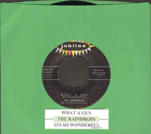 Raindrops - What A Guy/It's So Wonderful (with juke box label) - VG7/ - 45 rpm Records