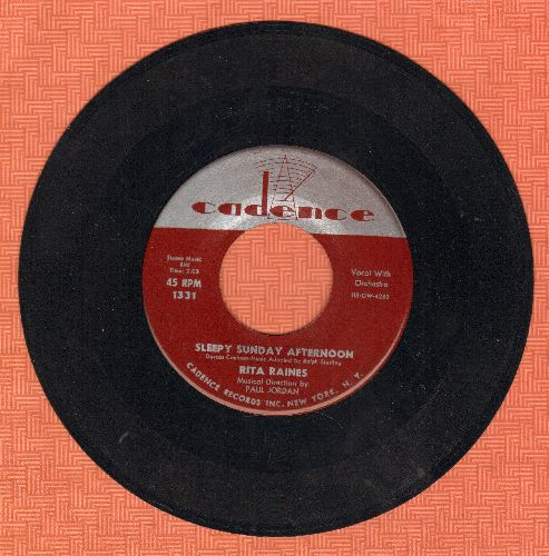 Raines, Rita - Sleepy Sunday Afternoon/I Told A Stranger - NM9/ - 45 rpm Records