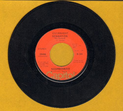 Raspberries - Overnight Sensation (Hit Record)/Hands On You  - EX8/ - 45 rpm Records