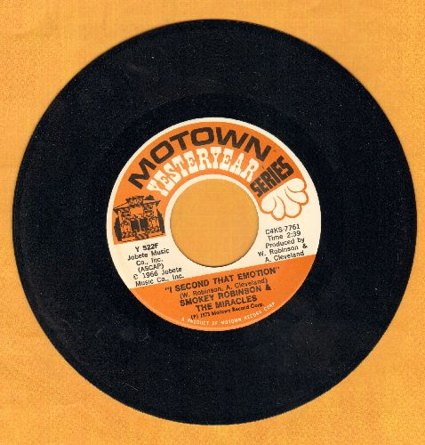Robinson, Smokey & The Miracles - I Second That Emotion/If You Can Want (double-hit re-issue) - NM9/ - 45 rpm Records