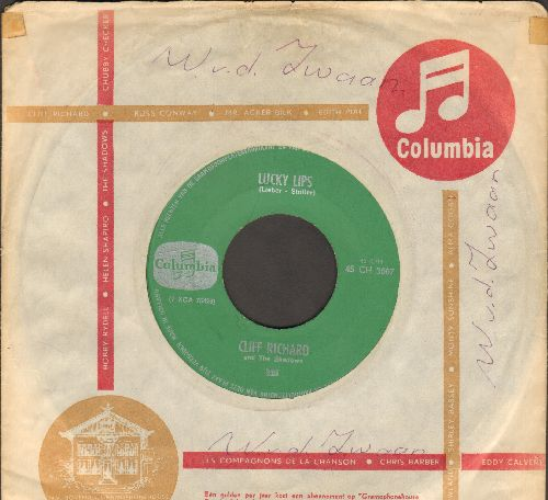 Richard, Cliff - Lucky Lips/I Wonder (Dutch Pressing with Columbia company sleeve) - EX8/ - 45 rpm Records
