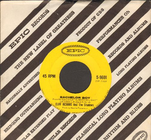 Richard, Cliff - Bachelor Boy/True True Lovin' (with vintage Epic company sleeve) - NM9/ - 45 rpm Records