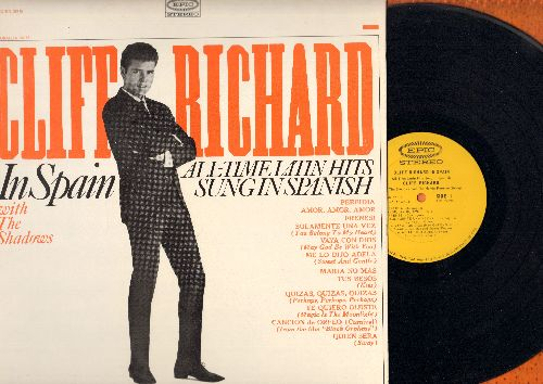 Richard, Cliff - Cliff Richard In Spain - All-Time Latin Hits Sung In Spanish: Perfidia, Frenesi, Quien Sera, Vaya Con Dios (Vinyl STEREO LP record, DJ advance pressing) - EX8/NM9 - LP Records