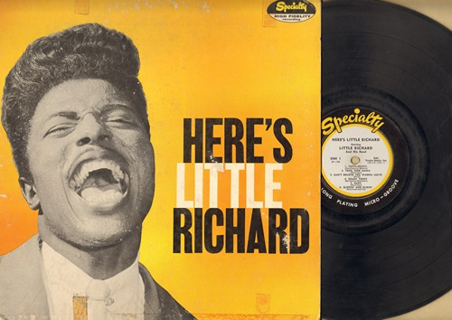 Little Richard - Here's Little Richard: Tutti-Frutti, Ready Teddy, Long Tall Sally, Rip It Up, She's Got It (EXTREMELY RARE first issue Microgroove, plays better than it looks) - G4/VG6 - LP Records