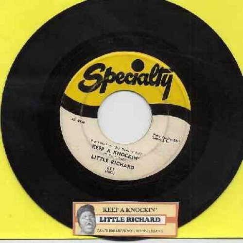 Little Richard - Keep A Knockin' (But You Can't Come In)/Can't Believe You Wanna Leave (original first issue with juke box label) - VG7/ - 45 rpm Records
