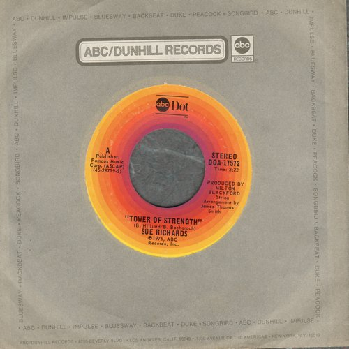 Richards, Sue - Tower Of Strenght (VERY NICE 1970's Country/Western version of the vintage R&B Hit)/Let Me Be Your Baby Again - VG7/ - 45 rpm Records