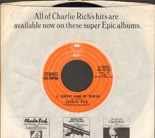 Rich, Charlie - A Sunday Kind Of Woman/Behind Closed Doors (with company sleeve) - NM9/ - 45 rpm Records