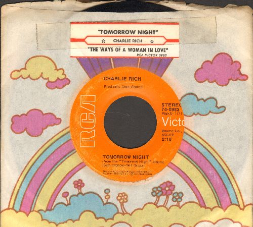 Rich, Charlie - Tomorrow Night/The Ways Of A Woman In Love (with juke box label and RCA company sleeve) - EX8/ - 45 rpm Records
