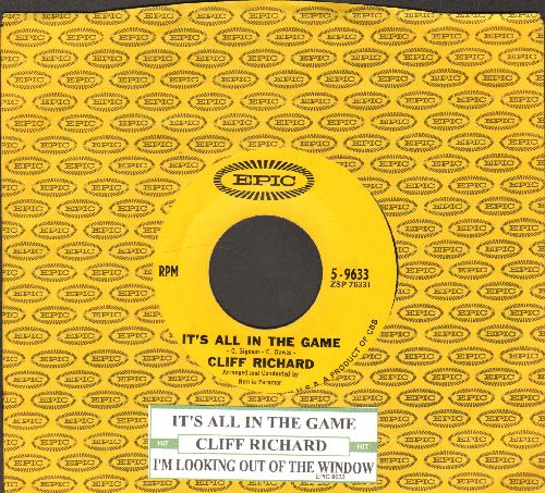 Richard, Cliff - It's All In The Game/I'm Looking Out Of The Window (with vintage Epic company sleeve and juke box label) - NM9/ - 45 rpm Records