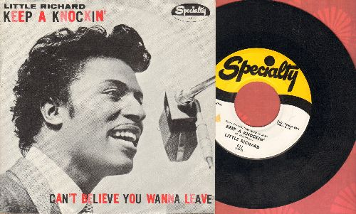 Little Richard - Keep A Knockin' (But You Can't Come In)/Can't Believe You Wanna Leave (original first issue with RARE picture sleeve) - EX8/EX8 - 45 rpm Records