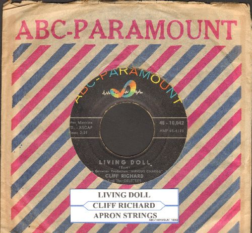 Richard, Cliff - Living Doll/Apron Strings (with juke box label and ABC-Paramount company sleeve) - VG7/ - 45 rpm Records