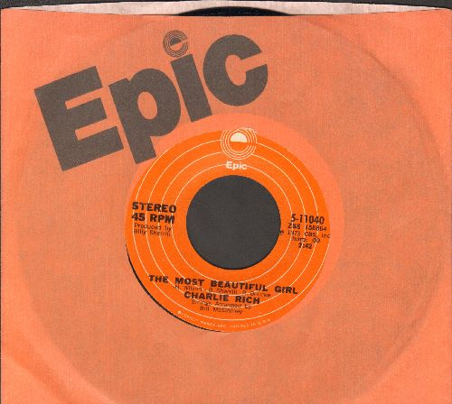 Rich, Charlie - The Most Beautiful Girl (In The World)/I Feel Like Going Home (with Epic  company sleeve) - EX8/ - 45 rpm Records