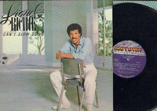 Richie, Lionel - Can't Slow Down: Hello, All Night Long, Penny Lover (Vinyl LP record, gate-fold cover) - NM9/EX8 - LP Records
