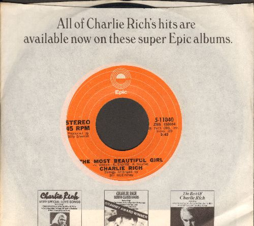 Rich, Charlie - The Most Beautiful Girl (In The World)/I Feel Like Going Home  - EX8/ - 45 rpm Records