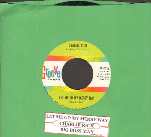 Rich, Charlie - Let Me Go On My Merry Way/Big Boss Man (with juke box label) - NM9/ - 45 rpm Records