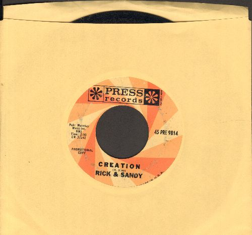 Rick & Sandy - Creation/In A Hundred Years From Now (DJ advance pressing) - VG7/ - 45 rpm Records