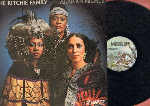 Ritchie Family - Arabian Nights: The Best Disco In Town (6:359minute extended version), Baby I'm On Fire (5:05), Romantic Love (5:53), Arabian Nights Medley, In A Persian Market (Vinyl STEREO LP record) - NM9/EX8 - LP Records
