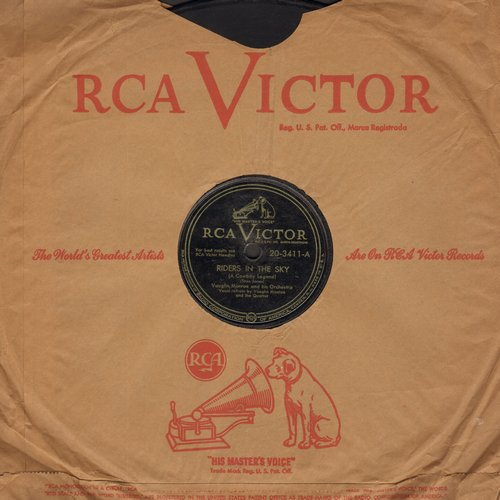 Monroe, Vaughn & Orchestra & Chorus - Riders In The Sky (A Cowboy Legend)/Single Saddle (10 inch 78rpm record with RCA company sleeve) - VG7/ - 78 rpm