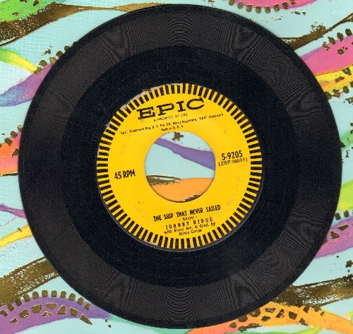 Ridge, Johnny - The Ship That Never Sailed (spoken words)/Red Rose Waltz (Instrumental) - EX8/ - 45 rpm Records