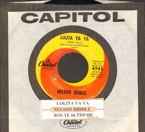 Riddle, Nelson - Lolita Ya Ya/Route 66 Theme (with juke box label and Capitol company sleeve) - EX8/ - 45 rpm Records
