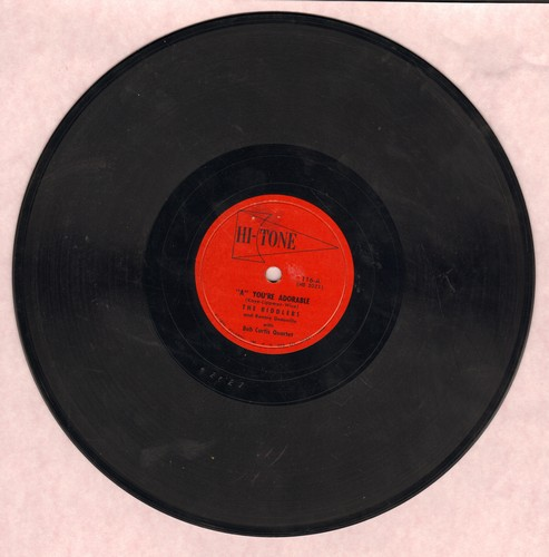 Riddlers & Ronnie Deauville - A - You're Adorable/All Right, Louie, Drop The Gun (by Eugene Baird & Larry Douglas on flip-side, accompanied by Bob Curtis Quartet) (10 inch 78 rpm record) - EX8/ - 78 rpm
