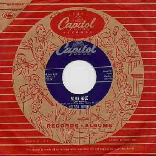 Riddle, Nelson - Robin Hood (Theme from 1950s TV Series 'Robin Hood')/Lisbon Antigua (with RARE Vintage Capitol company sleeve) - VG7/ - 45 rpm Records