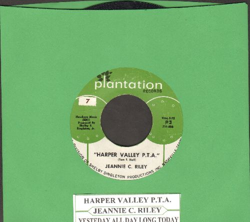 Riley, Jeannie C. - Harper Valley P.T.A. (Juke Box Favorite!)/Yesterday All Day Long Today (with juke box label) - NM9/ - 45 rpm Records