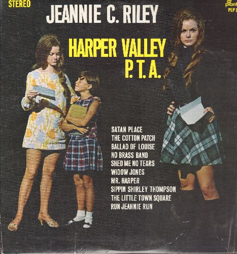 Riley, Jeannie C. - Harper Valley P. T. A.: Shed Me No Tears, Sippin' Shirley Thompson, Ballad Of Louise, Run Jeannie Run, Widow Jones, Satan Place (Vinyl STEREO LP record, shrink wrap) - NM9/NM9 - LP Records